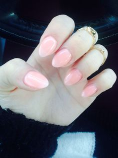 short almond nail | Found on Uploaded by user