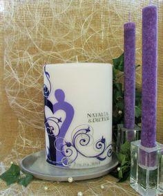 Hochzeitskerze*CurlicueBridal*inkl.Beschriftung von WACHSLÄDLE auf DaWanda.com