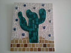 Mosaic Art Projects, Mosaic Artwork, Cactus, Mosaic Designs, Outdoor Walls, Mosaic Tiles, Handicraft, Stained Glass, Decoupage