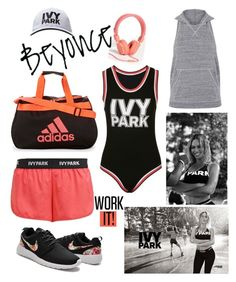 """Ivy Park"" by amybaby13 ❤ liked on Polyvore featuring Urbanears, Ivy Park, Topshop, adidas and Beyonce"