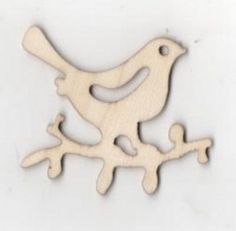 Oiseau bois sur une branche 35 mm x 50 mm http://fournitures-loisirs.les-creatifs.com/brico-deco.php?refer=Oiseau-bois-35-mm Support bois oiseau sur une branche à peindre 35 mm x 50 mm x 2 mm. Découpe laser, à décorer ou à peindre avec de la peinture acrylique,