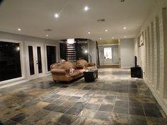 Slate floors, exposed brick, floor to ceiling windows...