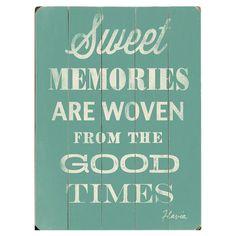 Sweet Memories Wall Art