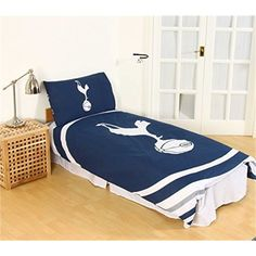 Tottenham Hotspur Fc Pulse Reversible Single Duvet Quilt Cover And Pillowcase -
