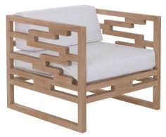 Fauteuil Kontiki / Teck Teck / Coussin Beige Perle - Emu - Décoration et mobilier design avec Made in Design