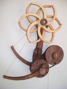 Art Kinetic Sculpture wooden LIGHT GERBER wall by kalimbatour, €129.00