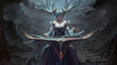 Sona Art League of Legends Girl High Resolution Wallpaper 2880×1620