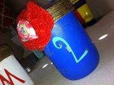 Mason jar pen holders by MasonJarsOfLove on Etsy, $20.00