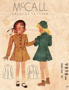 1930s Coat for Girls and Toddlers  Vintage by daisyepochvintage, $10.00