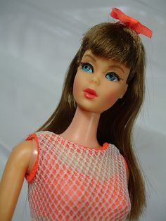 """Twist and Turn Barbie"" 1967 - with ""real"" lashes!  My 11th birthday gift - and I still have her though gently loved."