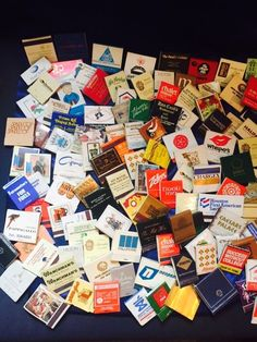 Large Collection (191) Of Vintage Unused Matchbooks & Matchboxes
