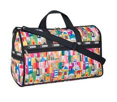 Disney It's a Small World Collection by LeSportsac - 2373 Large Weekender with Charm