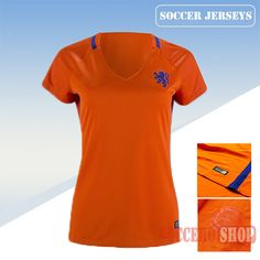 Nice Fitted Holland Orange 2016/17 Home Womens Soccer Jersey Clearance From China