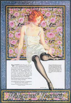 Holeproof Hosiery Girl Lingerie Wiskonsin 1923 - www.MadMenArt.com |
