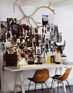 Chic Little Home Office Space Nandina Home & Design Atlanta, GA Black and White Scandinavian interiors office Inspiration Wand, Inspiration Boards, Interior Inspiration, Moodboard Inspiration, Workspace Inspiration, Board Ideas, Creative Inspiration, Interior Ideas, Fashion Inspiration