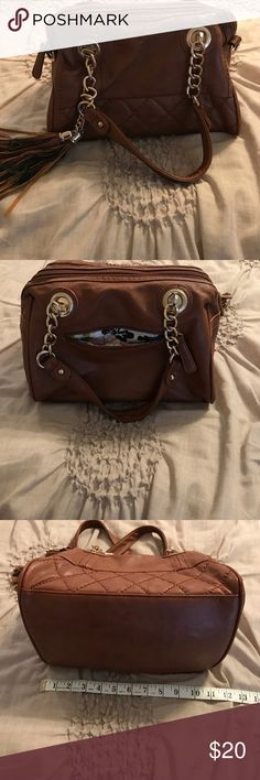 Small Big Buddha handbag Brown and gold. Has some marks on fabric inside the purse. Bags Mini Bags