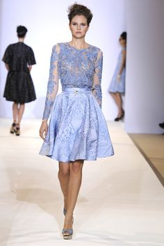 Tile Flared Skirt and Peony Long Sleeve Top, SS13