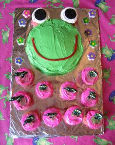 Frog Birthday Cake by Kid's Birthday Parties, via Flickr
