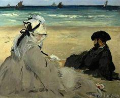 Edouard Manet - Sur la plage