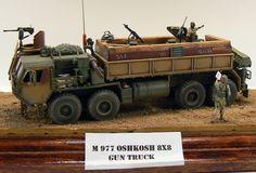 M-977 Oshkosh HEMTT Gun-Truck.