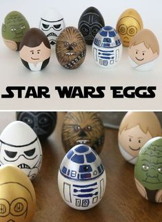 Huevos de Pascua DIY ¡de película! Cool Easter Eggs, Easter Egg Crafts, Manualidades Star Wars, Diy Star, Mickey Mouse Crafts, Easter Egg Designs, Coloring Easter Eggs, Easter Activities, Posca