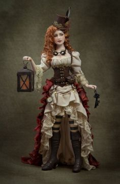 Cindy Gates Steampunk I know it's a doll, but I love the outfit. Steampunk Couture, Viktorianischer Steampunk, Costume Steampunk, Steampunk Outfits, Steampunk Clothing, Steampunk Necklace, Steampunk Wedding Dress, Renaissance Clothing, Gothic Fashion