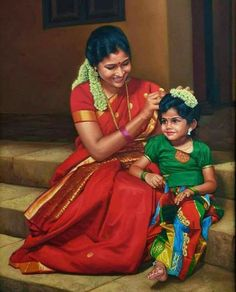 40 best ideas for love art photography perspective Realistic Paintings, Cool Paintings, Beautiful Paintings, Indian Women Painting, Indian Art Paintings, Onam Festival, India Art, Polychromos, Expo