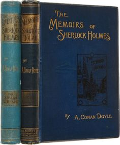 First Two Editions of Sherlock Holmes Books by Sir Arthur Conan Doyle (1892 first editions)