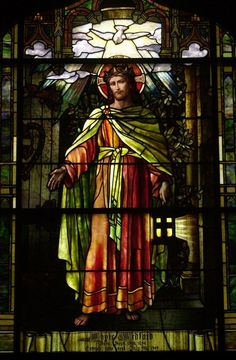 Tiffany - Christ the Light of the World #StainedGlassChurch