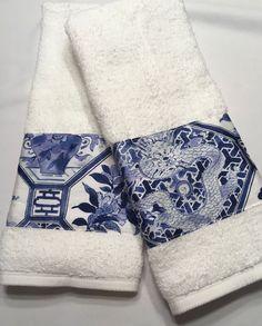 Custom Decorated Hand Towels w& Ralph Lauren Palm Harbor Fabric British Colonial Bedroom, Washing Clothes, Bath Towels, Palm, Ralph Lauren, Hands, Garden, Fabric, Ebay