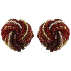 Venetian Murano Glass Clip On Earrings from Eternal Collection ($44) ❤ liked on Polyvore featuring jewelry, earrings, clip earrings, clip back earrings, murano glass earrings, murano glass jewelry and clip on earrings