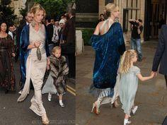 Kate Moss y su hija Lila Grace en la boda de Leah Wood