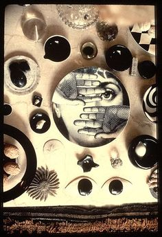 Photo by Ray Eames, including Fornasetti plate