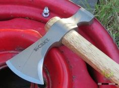 The CRKT Woods Chogan Tomahawk is designed by Ryan Johnson of RMJ Tactical to make your life easy when you're off the grid. Read more here: http://www.osograndeknives.com/catalog/axes-and-hatchets/crkt-rmj-woods-chogan-t-hawk-hammer-back-hickory-handle-2730-25407.html