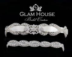 Wedding Garter - Bridal Accessory, Beaded and Crystal Garter