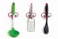 Look Hook van Peleg Design De Look Hooks zijn voorwerphouders die al jouw keukengerei, ramenwissers en alles wat je verder op kunt hangen gezelligheid brengen! #kookcadeau #keuken #cadeau  #moederdag #sinterklaascadeau #kerstcadeau
