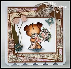 TOBY WITH ROSES ~ WILD ROSE STUDIO - made by Vixxen
