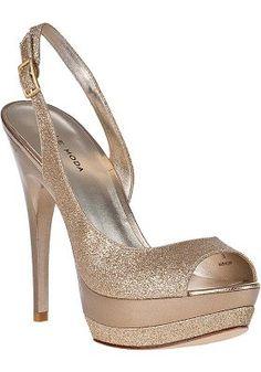 Pelle Moda - Gleam Evening Sandal Gold Glitter