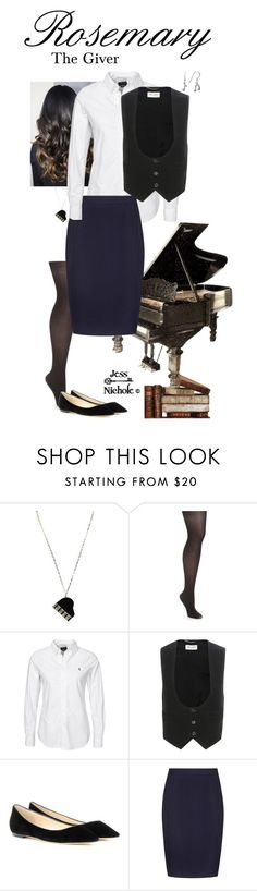 """The Giver: Rosemary"" by jess-nichole ❤ liked on Polyvore featuring Kate Spade, Maidenform, Polo Ralph Lauren, Yves Saint Laurent, Jimmy Choo and Reiss"
