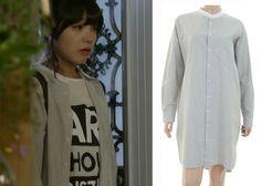 "Jung Eun-Ji in ""Trot Lovers"" Episode 3.  Tomboy Long Striped Shirt #Kdrama #TrotLovers #트로트의연인 #JungEunJi #정은지"