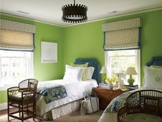 twin bedroom | Lindsey Coral Harper Interiors