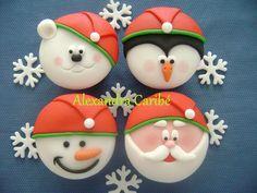 Cupcakes quarteto de natal - Christmas cupcakes by Alexandra Bolos Artísticos, via Flickr