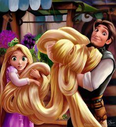 Rapunzel and Eugene; Walt Disney, Disney Couples, Cute Disney, Disney Girls, Disney Magic, Disney Pixar, Rapunzel And Eugene, Tangled Rapunzel, Princess Rapunzel