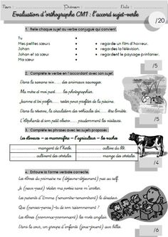 An evaluation on subject-verb agreement – BettieKing&Elfrida Subject Verb Agreement, Subject And Verb, French Language Lessons, French Lessons, French Teacher, Teaching French, How To Teach Grammar, French Kids, French Education