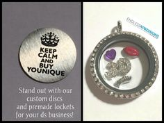 Pre-made locket for Younique direct sales company www.endlessxpressions.com/rep/#orders4jodi