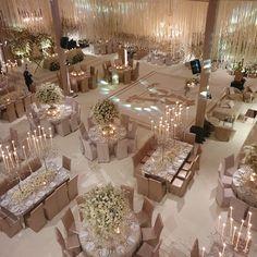 Luxury Wedding at an Opulent Mexican Hacienda - Belle The Magazine Luxury Wedding Decor, Elegant Wedding, Perfect Wedding, Dream Wedding, Magical Wedding, Glamorous Wedding, Wedding Reception Decorations, Wedding Table, Wedding Reception Design