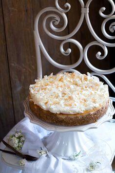sernik kokosowy Coconut Cheesecake, Vanilla Cake, Sweets, Beverages, Recipes, Cook, Baking, Tips, Gummi Candy