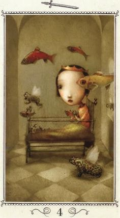 Hiểu Lá Four of Swords - Nicoletta Ceccoli Tarot bài tarot Xem thêm tại http://tarot.vn/la-four-of-swords-nicoletta-ceccoli-tarot/