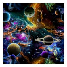 A spectacular image of a colorful space nebula wit lamp shade - image gifts your image here cyo personalize Planet Painting, Space Blanket, Image Gifts, Space And Astronomy, Acrylic Wall Art, Colorful Paintings, Custom Posters, Easy Drawings, Painting Inspiration