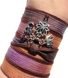 Lotus Silk Wrap Bracelet Om Sacred Elephant Jewelry Yoga Namaste Ganesha Unique Upper Arm Mothers Day Gift Under 30 Item J86 by BohemianEarthDesigns on Etsy https://www.etsy.com/listing/119501139/lotus-silk-wrap-bracelet-om-sacred